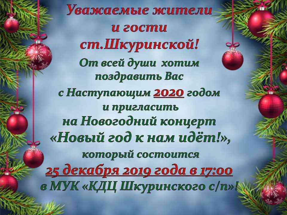 """Новогодний концерт """"Новый год к нам идет!"""""""